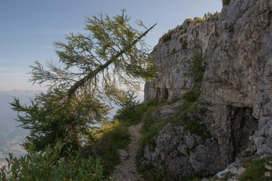 Quota 2003, una postazione austriaca a fianco dell'Ortigara, si trova a picco sulla Valbrenta